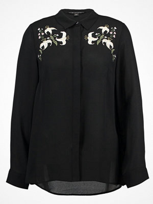 Dorothy Perkins EMBROIDRED Skjorta black