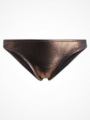 Topshop METALLIC HI LEG Bikininunderdel bronze
