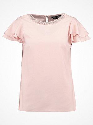 Dorothy Perkins EMBELLISHED NECK RUFFLE SOFT Blus blush