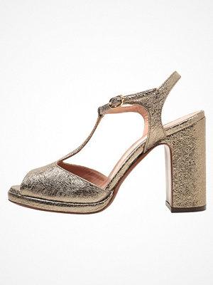 L'Autre Chose Sandaletter crackle laminato bronze
