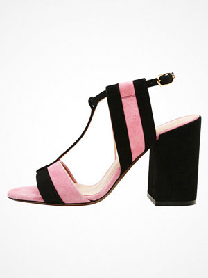 L'Autre Chose Sandaletter black/pink