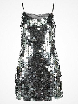 Topshop DISCO SEQUIN Cocktailklänning silver