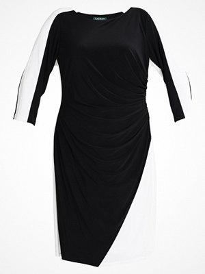 Lauren Ralph Lauren Woman MATTE TREVA TONE Jerseyklänning black/lauren white