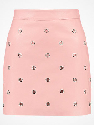 Topshop EYELET Minikjol pink