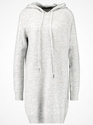 Vero Moda VMRANA HOODIE DRESS Stickad klänning light grey melange