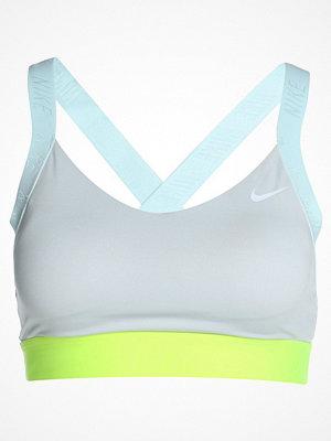 Nike Performance PRO INDY LOGO BACK BRA Sportbh pure platinum/glacier blue/volt/white