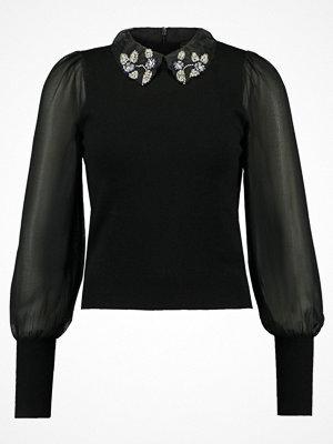 Topshop COLLAR Stickad tröja black