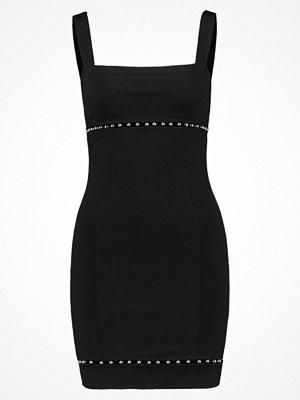 Topshop BALL TRIM SQUARE NECK Fodralklänning black