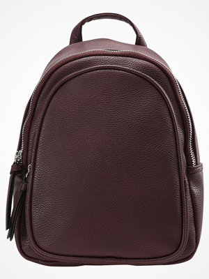 New Look DOLLY ZIP MINI  Ryggsäck dark burgundy mörkgrå