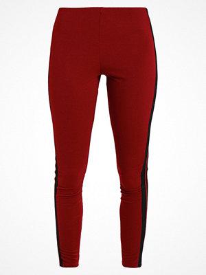 New Look STRIPE Leggings burgundy