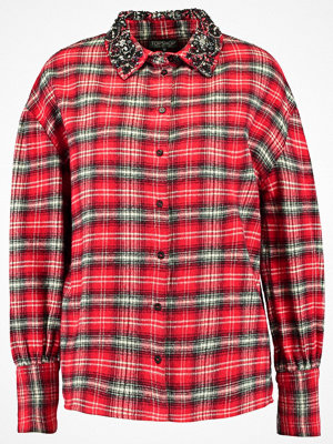 Topshop COLLAR CHECK Skjorta red