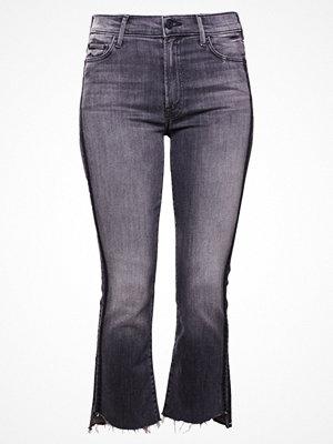 Mother INSIDER CROP STEP FRAY Jeans bootcut grey denim