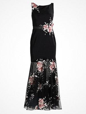 Luxuar Fashion Festklänning schwarz/rosa