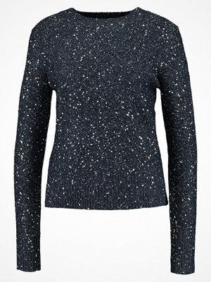 Oasis SEQUIN JUMPER Stickad tröja navy/silver