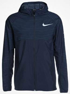 Nike Performance ESSENTIAL HOODED Löparjacka obsidian/silver