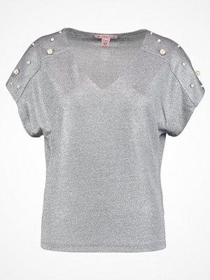 Anna Field Tshirt med tryck silver