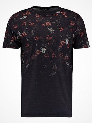 New Look FLORAL BLOCK FADE Tshirt med tryck black