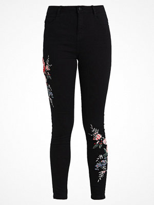 Dorothy Perkins COLOURED EMBROIDED DARCY  Jeans Skinny Fit black
