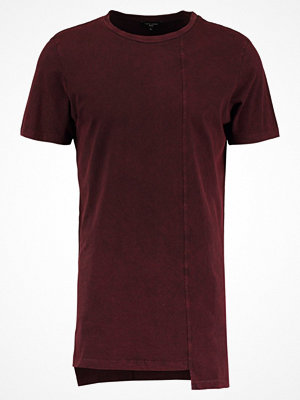New Look SEAMED LONGLINE TEE Tshirt med tryck light burgundy