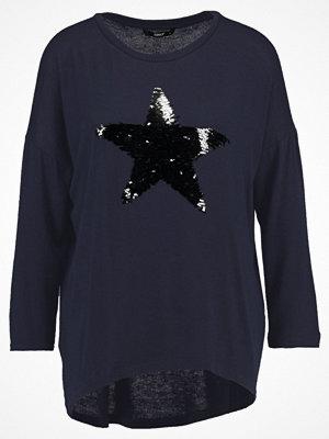 Only ONLMELIA 3/4 STAR SEQUENCE Stickad tröja night sky/black