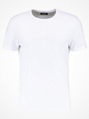 Calvin Klein TRAVOR CREW NECK Tshirt bas white