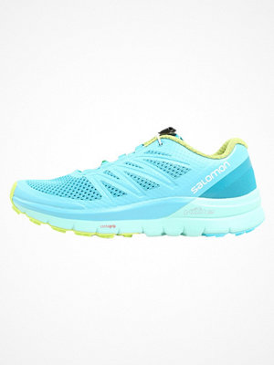 Salomon SENSE PRO MAX  Löparskor terräng blue curacao/beach glass/acid lime