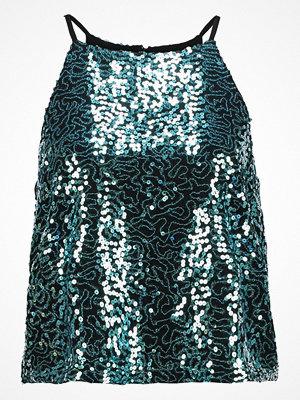 Linnen - Even&Odd Linne black/turquoise