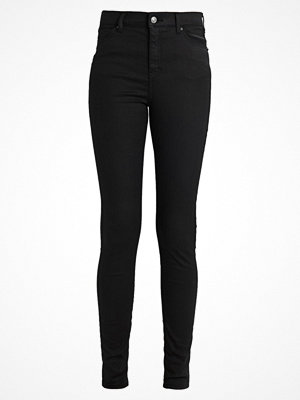 Topshop Tall JAMIE Jeans slim fit coated black