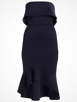 True Violet TRUE BOW BACK WITH PEPHEM Jerseyklänning navy