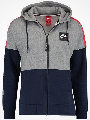 Nike Sportswear AIR FULL ZIP HOODIE Sweatshirt carbon heather/university red/obsidian/white
