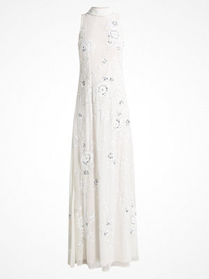 Frock and Frill HIGH NECK ALL OVER SEQUIN SHIFT MAXI DRESS Festklänning ivory