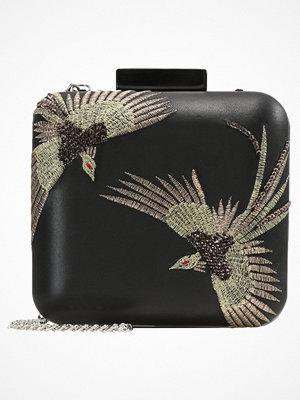 Topshop BIRD BOXY CLUTCH Kuvertväska black svart med tryck