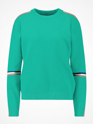 Vero Moda VMDAMARA BANNING ONECK Stickad tröja pepper green/strong blue