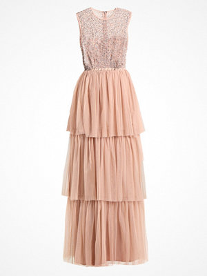Maya Deluxe SLEEVLESS MAXI TIERED DRESS WITH BOW BACK Festklänning nude