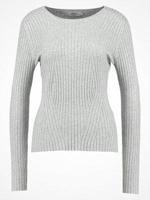Only ONLNATALIA Stickad tröja light grey melange