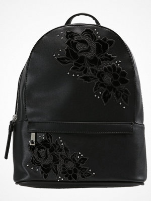 New Look ROSE EMBROIDERY PINSTUD Ryggsäck black svart med tryck