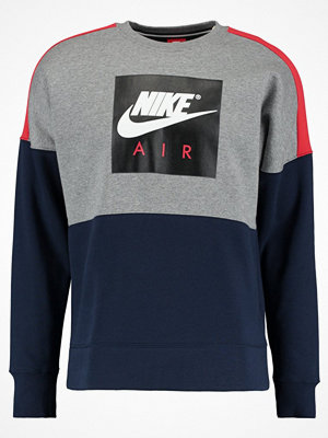 Nike Sportswear AIR CREWNECK Sweatshirt carbon heather/university red/obsidian