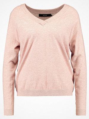 Vero Moda VMKARIS VNECK Stickad tröja misty rose/melange
