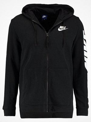 Nike Sportswear HYBRID FULL ZIP FRENCH TERRY Sweatshirt black/white
