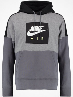 Nike Sportswear HOODIE Luvtröja carbon heather/black/dark grey/white