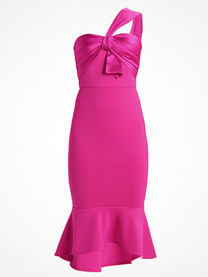 True Violet TRUE ONE SHOULDER MIDI DRESS WITH BOW DETAIL AND PEP HEM Cocktailklänning cerise