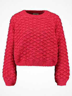Only POPLINA Stickad tröja virtual pink
