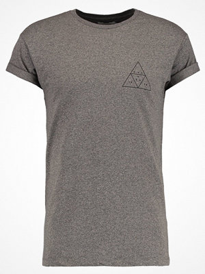 Topman NYC 98 MUSCLE FIT Tshirt med tryck light brown