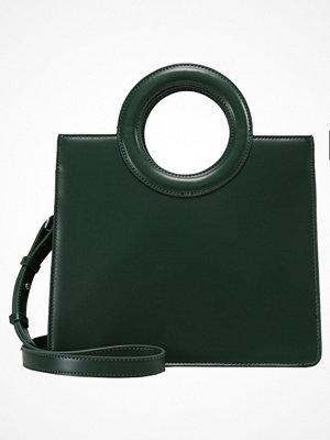 Topshop SHASTA CIRCLE HANDLE BOX TOTE Handväska green
