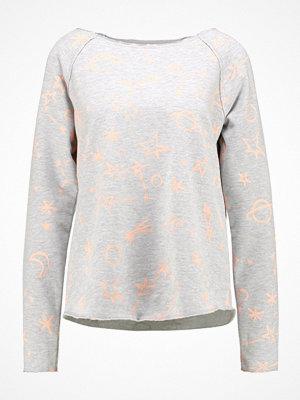Juvia PLANET AND STAR Sweatshirt grey melange/neon peach