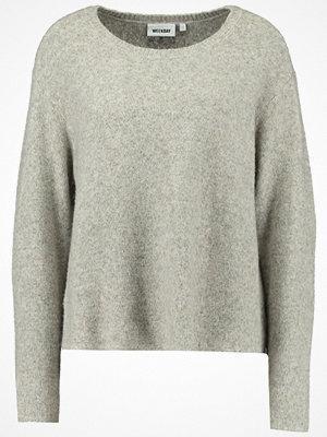 Weekday WISH Stickad tröja grey melange