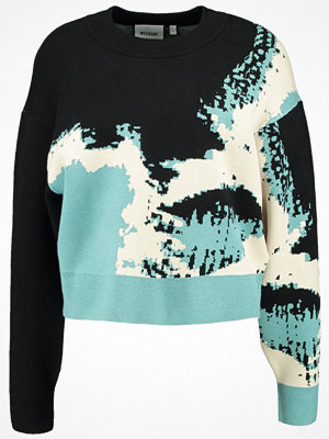 Weekday HINT SWEATER Stickad tröja black/blue/white