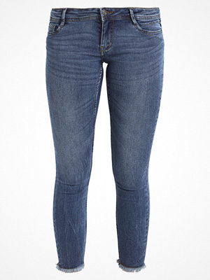 Vero Moda VMFIVE DESTROYED HEM ANKLE  Jeans Skinny Fit medium blue denim