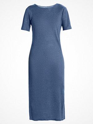 Majestic Stickad klänning blue jean
