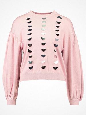 Lost Ink SEQUIN FRONT JUMPER Sweatshirt light pink